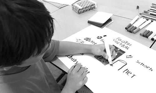 Een woordveld maken bij Dutch for Kids