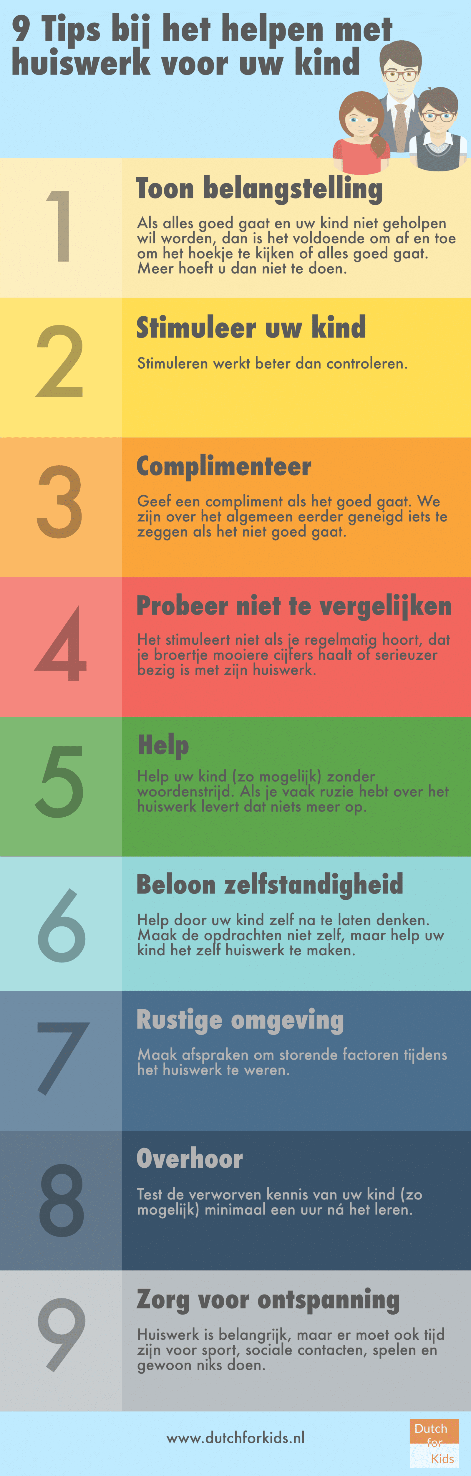 9 tips bij het helpen met huiswerk voor uw kind